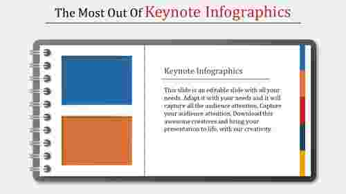 Keynote infographics-Notepad shapes